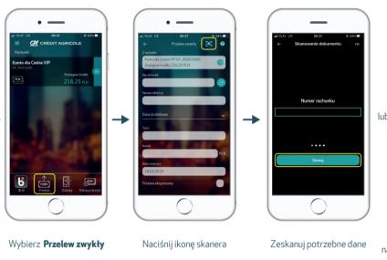 Credit Agricole udostępnił skaner OCR w aplikacji mobilnej