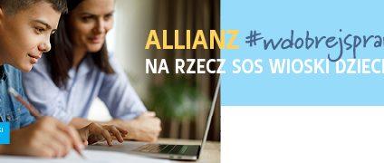 Allianz Polska wspiera naukę zdalną dzieci z SOS Wiosek Dziecięcych