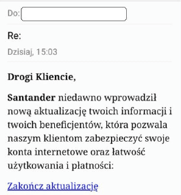 Santander Bank Polska ostrzega przed oszustami. Nakłaniają do aktualizacji danych