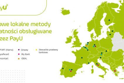 PayU poszerza ofertę lokalnych metod płatności w Europie