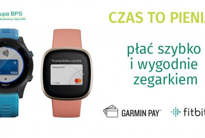 Ruszyły płatności Garmin Pay i Fitbit Pay w bankach spółdzielczych Grupy BPS oraz w Banku BPS