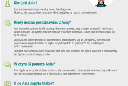Credit Agricole uruchomił nowego bota - Asię