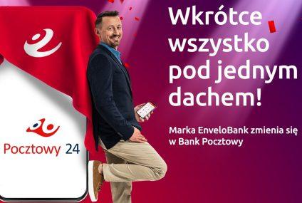 """Pocztowy rezygnuje z marki EnveloBanku. Połączy banki """"pod jednym dachem"""""""