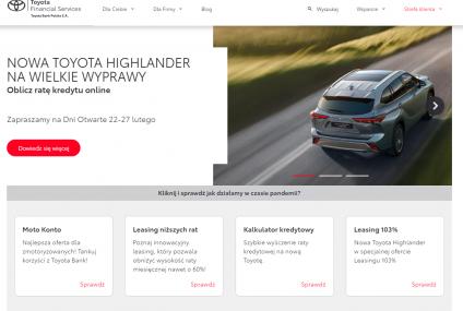 Nowa strona internetowa Toyota Bank i Toyota Leasing