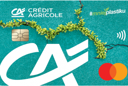 Credit Agricole wprowadził do oferty kartę wykonaną z ekotworzywa