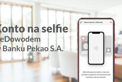 Bank Pekao wdraża możliwość otwarcia konta na selfie przy użyciu e-dowodu