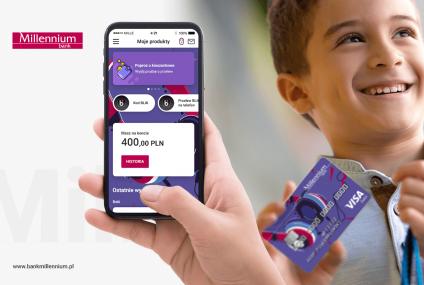 Aplikacja mobilna i płatności kartą w telefonie dostępne dla najmłodszych w Banku Millennium