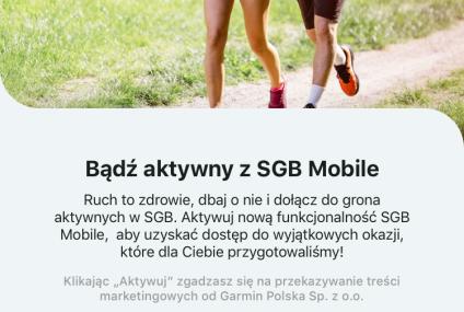 Wkrótce nowa funkcja w apce SGB. Użytkownicy zobaczą dane o swojej aktywności sportowej i kondycji w aplikacji bankowej