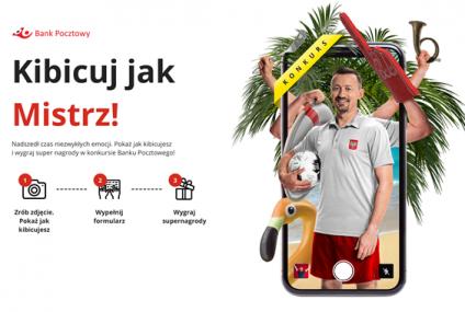 Zrób zdjęcie jak kibicujesz w czasie EURO 2020 i wygraj z Bankiem Pocztowym.Najlepsze zdjęcia wybierze m.in. Adam Małysz